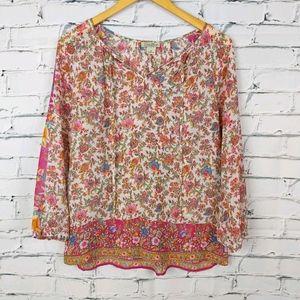 Lucky Brand Boho Floral Top